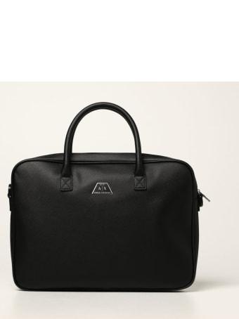 Armani Collezioni Armani Exchange Shoulder Bag Armani Exchange Briefcase In Saffiano Synthetic Leather