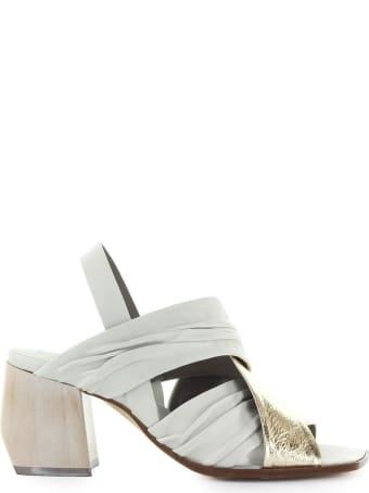 IXOS White Gold Heeled Sandal