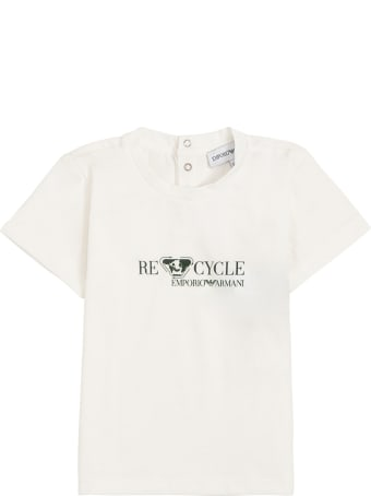 Emporio Armani Recycled Cotton T-shirt With Print