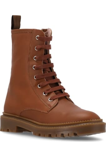 Marella Leather Army Boot