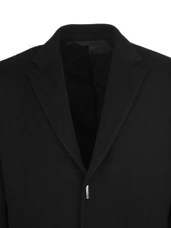 Givenchy Man Black Wool And Cashmere Coat