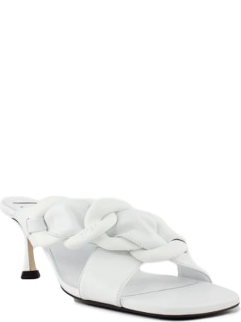 N.21 White Leather Mules