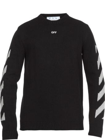 Off-White Diagonal Print Sweater
