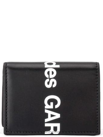 Comme des Garçons Shirt Boy Comme Des Garã â§ons Wallet Huge Wallet Logo In Black Leather
