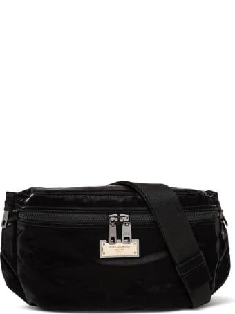 Dolce & Gabbana Sicily Black Waist Bag In Nylon