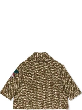 Gucci Baby Herringbone Wool Coat