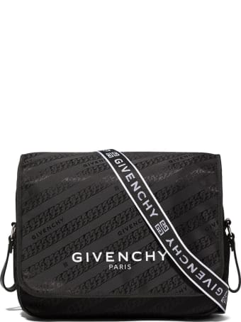 Givenchy Black Nursery Bag With Logo And G Chain Motif