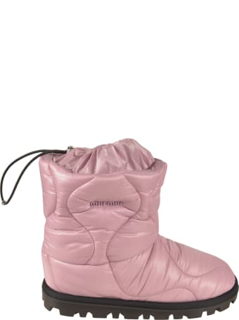 Miu Miu Embossed Logo Padded Ankle Boots