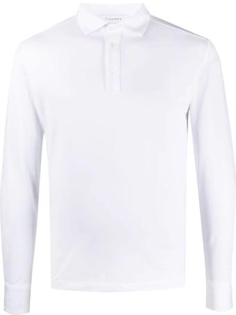 Cruciani White Cotton Blend Polo Shirt