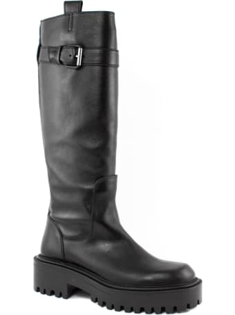Vic Matié High Boot In Black Leather