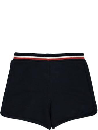 Moncler Drawstrings Logo Shorts Blue