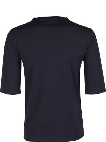 Malo Navy Blue Cotton T-shirt