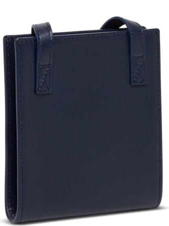 Jacquemus Le Gadjo Crossobdy Bag In Blue Leather
