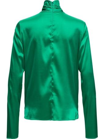 Tessa Turtleneck In Green Silk Blend