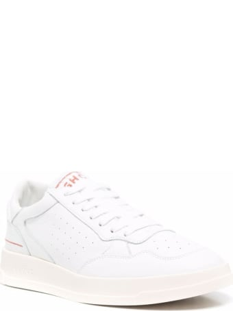 GHOUD Low Tweener Leather And Fabric Sneakers With Logo