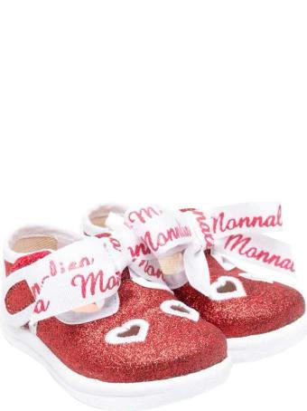 Monnalisa Glitter Red Ballet Flats