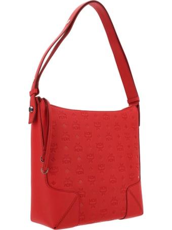 MCM Klara Monogrammed Hobo Medium Bag