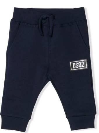 Dsquared2 Blue Cotton Track Pants