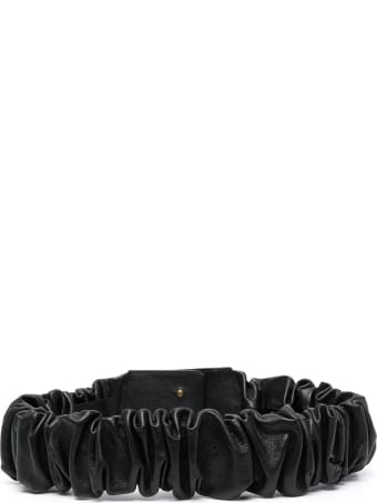 Federica Tosi Curled Belt In Black Leather