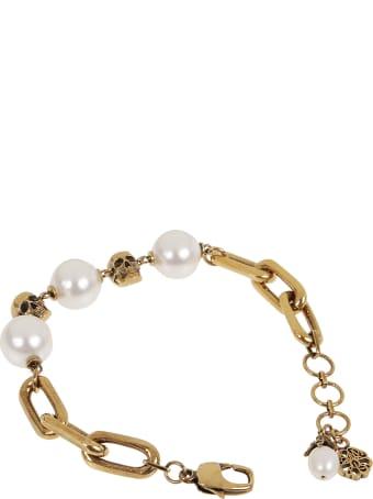 Alexander McQueen Chain Pearl Bracelet