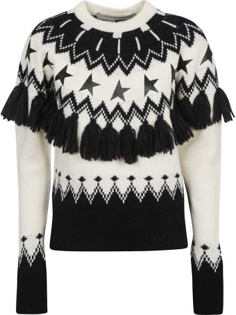 Golden Goose Jacquard Deidra Patchwork Sweater