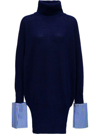 Jejia Annie Wool And Cashmere Blue Oversize Sweater