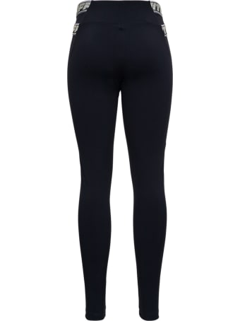 Off-White Black Stretch Fabric Leggings With Logo
