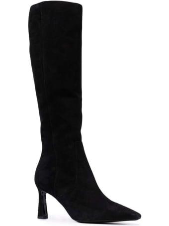 Pollini Suede Point Toe 75 Heel Knee Boots