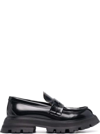Alexander McQueen Wander Black Leather Loafers
