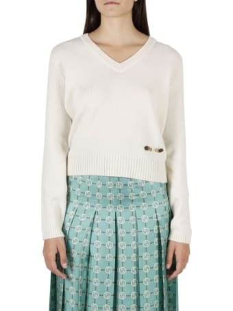 Gucci Clamp Cropped Sweater