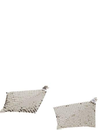 Paco Rabanne Diamond Pattern Perforated Earrings