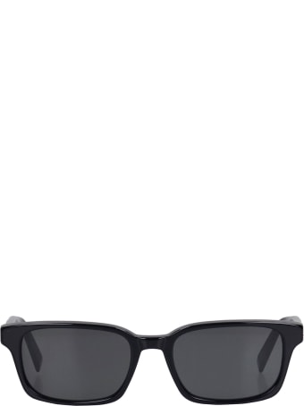 RETROSUPERFUTURE Regola Sunglasses In Black Acrylic