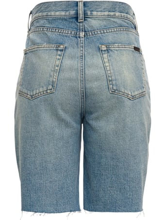 Saint Laurent Five Pockets Denim Bermuda Shorts
