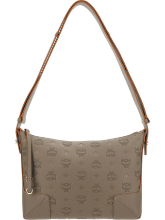 MCM Klara Monogrammed Mediu Shoulder Bag