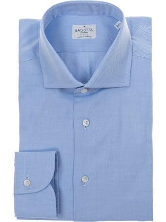Bagutta light blue cotton shirt