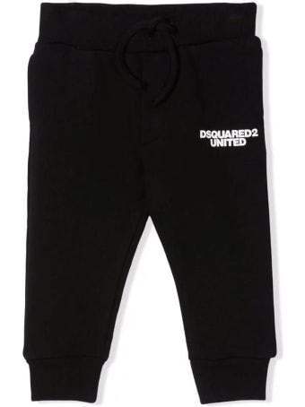 Dsquared2 Black Cotton Track Pants