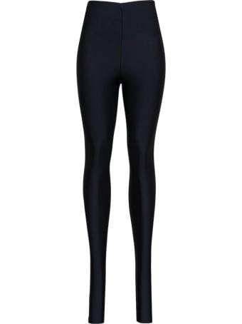 Andamane Black Holly Leggings In Shiny Stretch Fabric