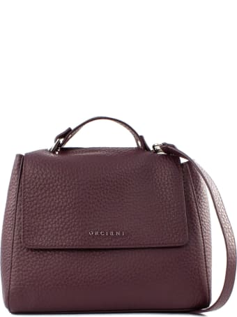 Orciani Sveva Soft Small Bordeaux Handbag