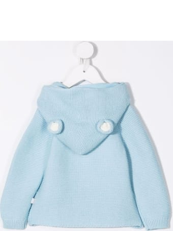Stella McCartney Kids Light Blue Knitted Hooded Cardigan With Ears Detail