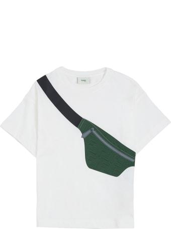 Fendi Jersey T-shirt With Front Belt Bag Print