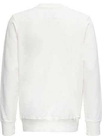 Casablanca White Cotton Sweatshirt With Casa Blanca Print