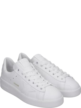 Golden Goose Pure Star Sneakers In White Leather