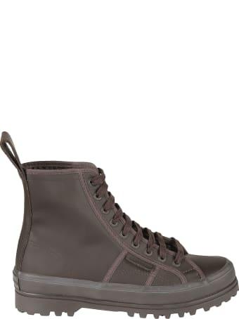 L'Autre Chose Stitch Detail Lace-up Boots
