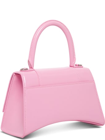 Balenciaga Hourglass Handbag In Pink Leather