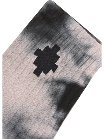 Marcelo Burlon Tie & Dye Cross Midhigh Socks