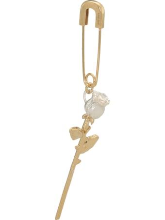 AMBUSH Rose Charm Safety Pin Earring