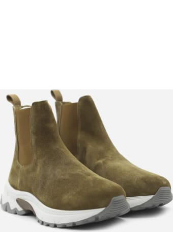 Eleventy Chunky Ankle Boots Made Of Suede