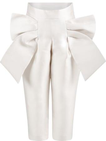 Simonetta Ivory Trouser For Girl