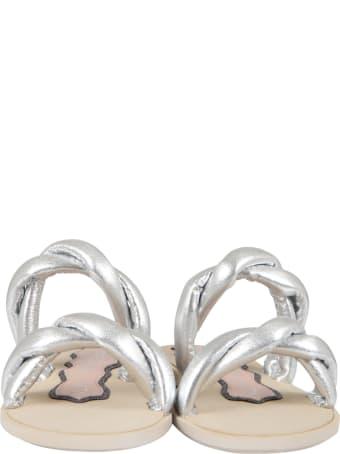 Francesca Bellavita Silver Sandals For Girl