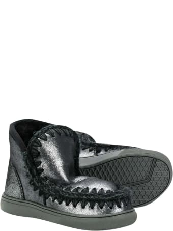 Mou Black Ankle Boots Ugg Kids